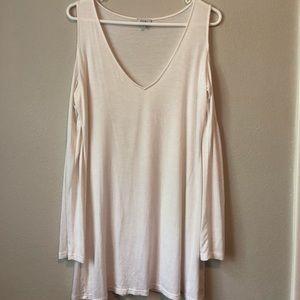 Dresses & Skirts - Shoulder-less White Mini Dress Tobi.com